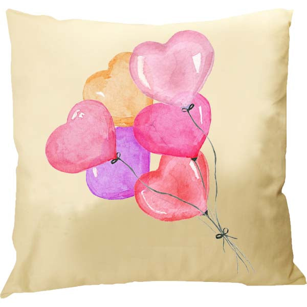 Heart Balloons Pillow