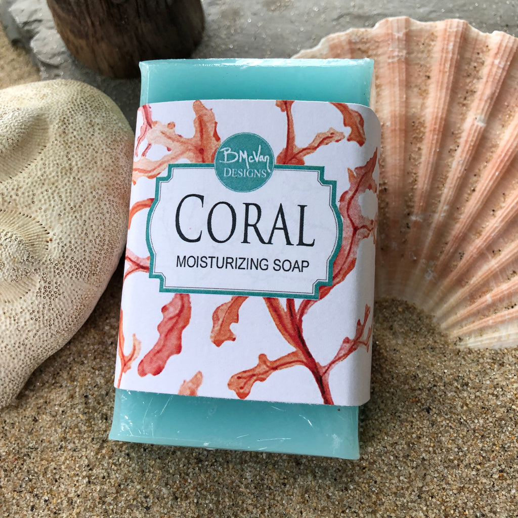 In Living Coral Bar Soap