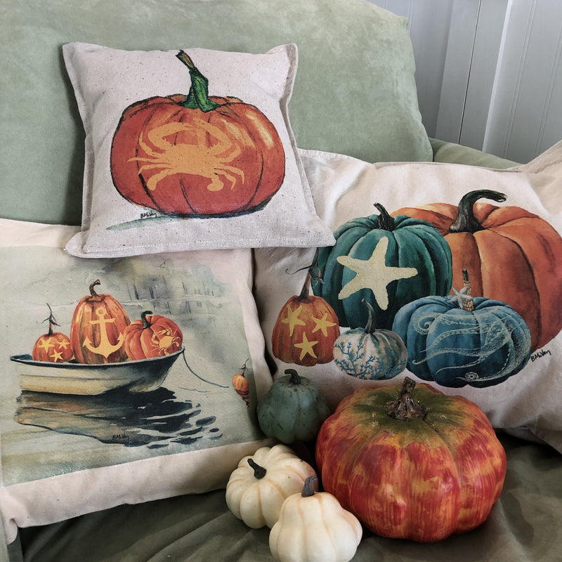 Coastal Pumpkin Pillows