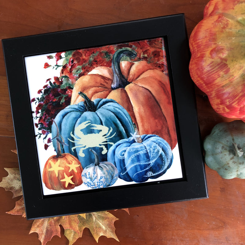 Heirloom Pumpkins Sealife Tile Trivet