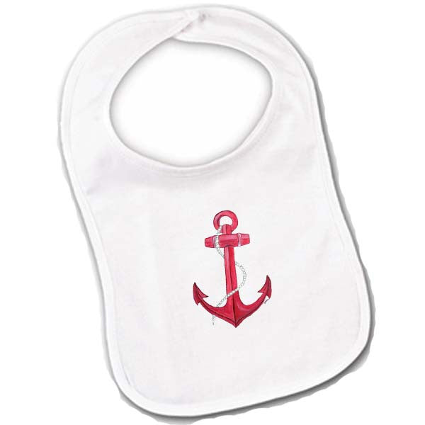 Red Anchor Baby Bibs