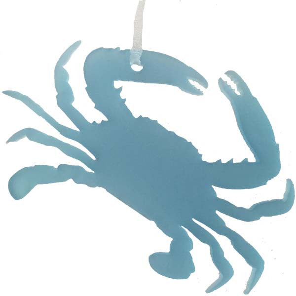 Crab Ornament - Sea Glass Blue