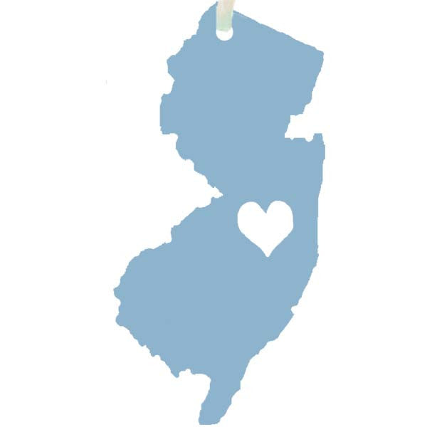 NJ - Cut-Out Heart Ornament