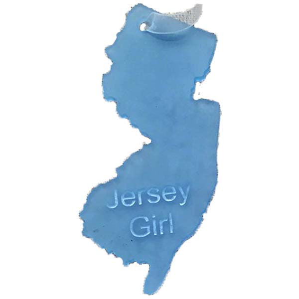 NJ - Jersey Girl Ornament - Sea Glass Blue