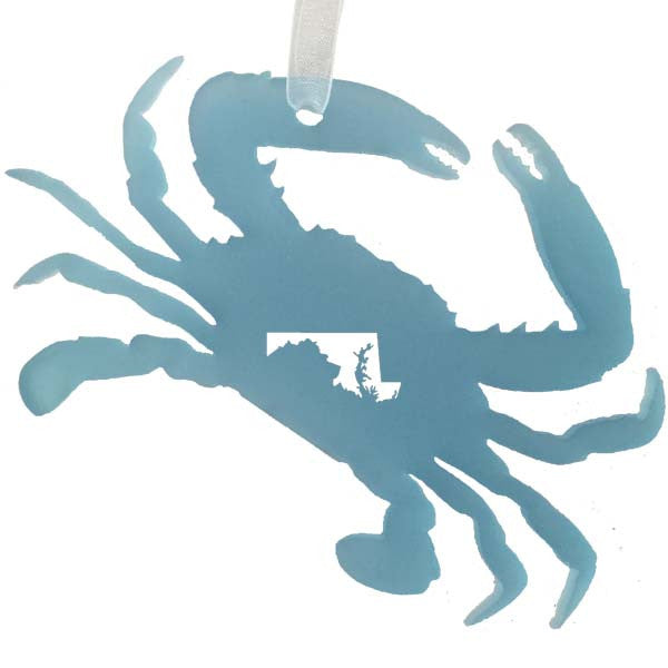 Crab Cut-Out MD Sea Glass Ornament