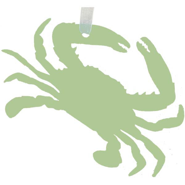 Crab Ornament - Sea Glass Green