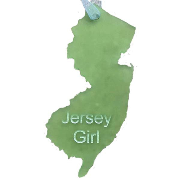 NJ - Jersey Girl Ornament - Sea Glass Green