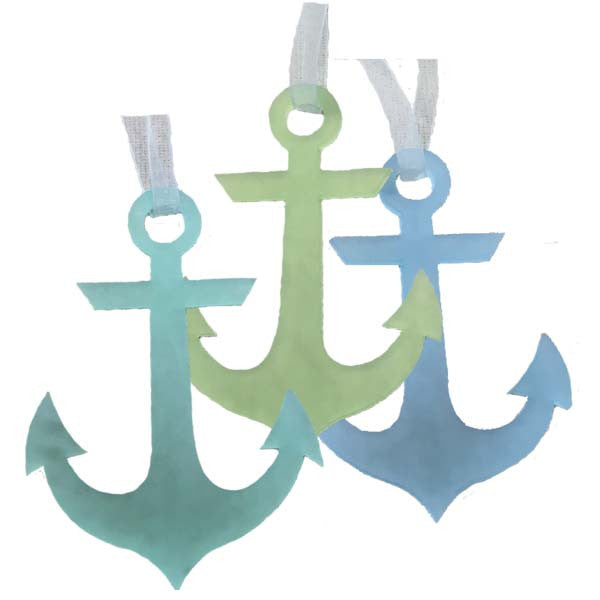 Anchor Ornaments - Set of 3
