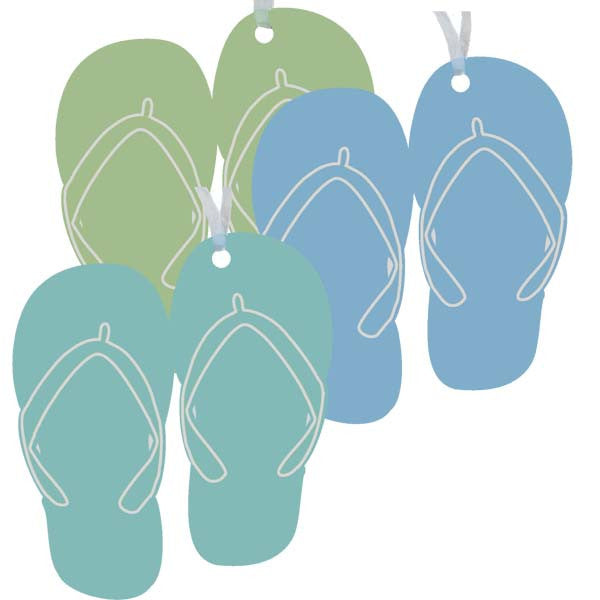 Flip Flops Ornaments - Set of 3