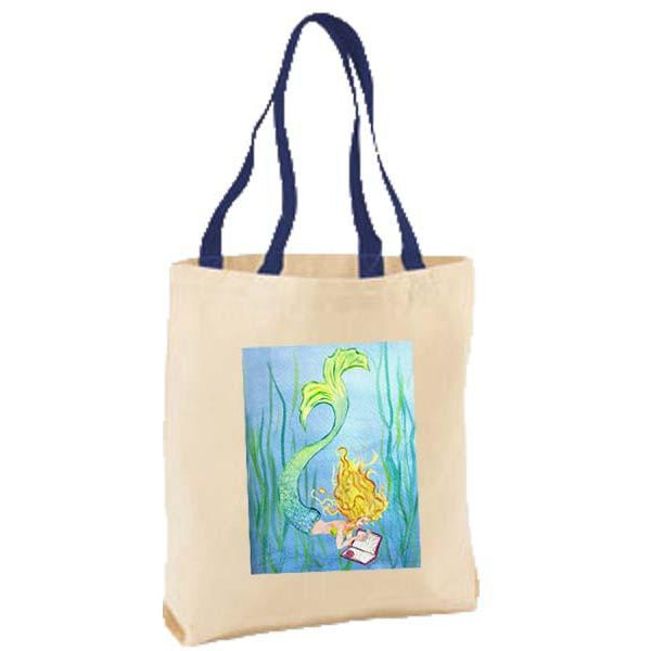 Mermaid Reading Tote Bag