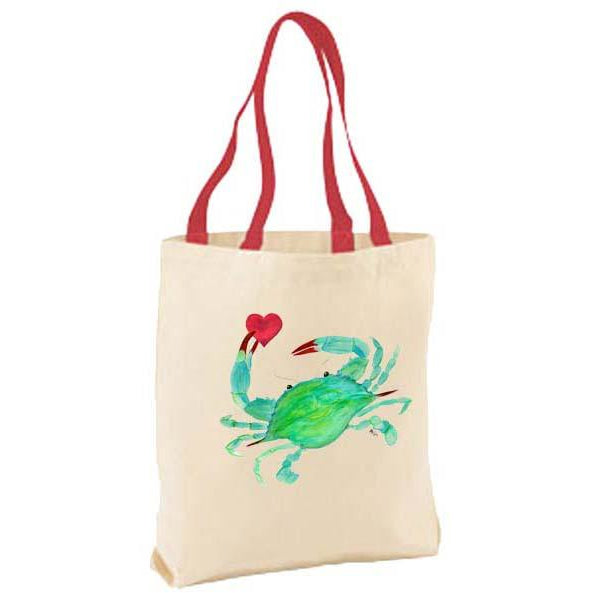 Crab with Heart Tote Bag