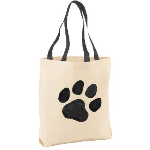 Black Paw Tote Bag