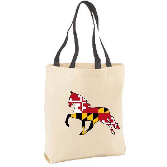 Maryland Flag Horse Tote Bag