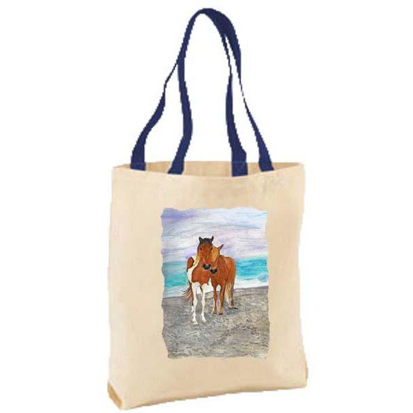 Two Ponies on Beach Tote Bag
