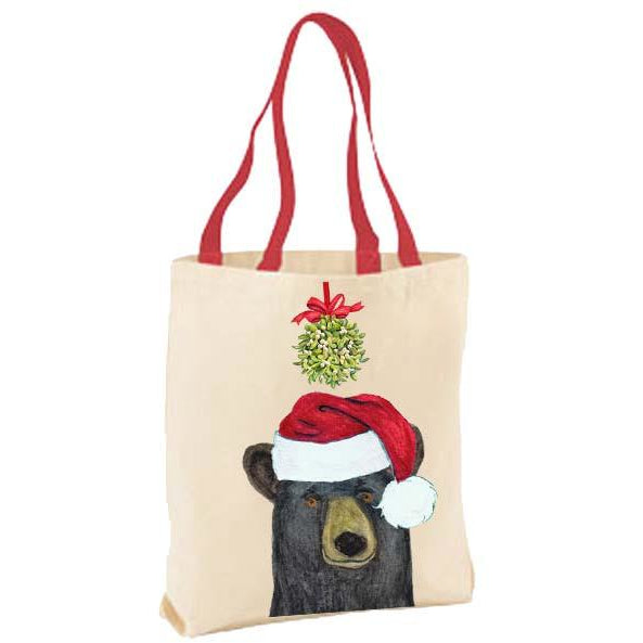Balck Bear Kissing Ball Tote Bag