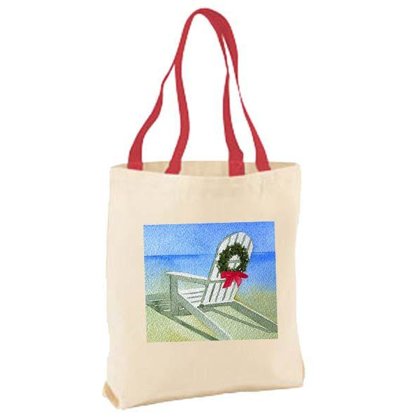Adirondack Chair with Wreath Tote Bag