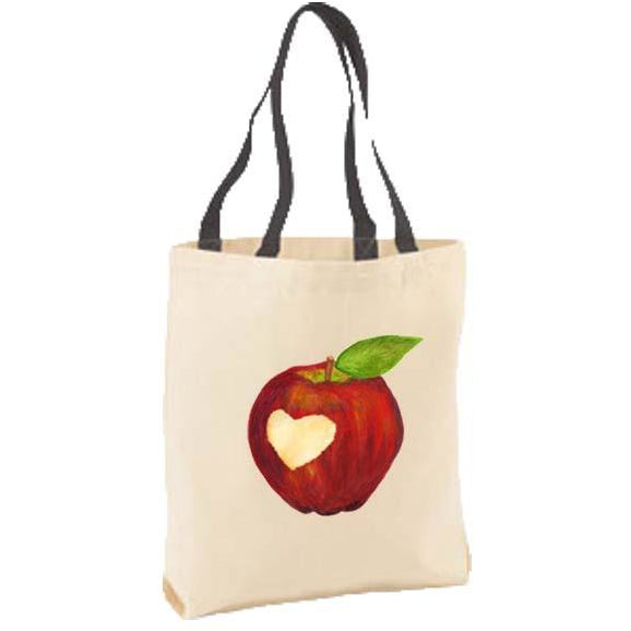 Apple Heart Cut-Out Tote Bag