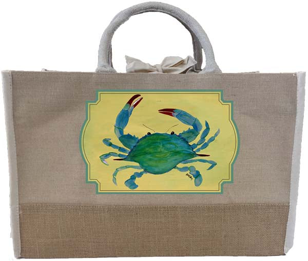 Blue Crab Two Tone Tote