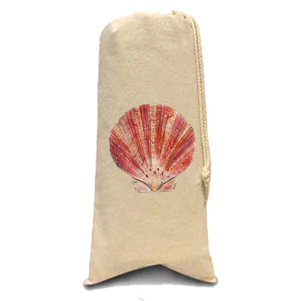 Scallop Shell Wine Bag