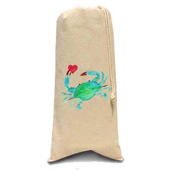 Crab with Heart  Wine Bag