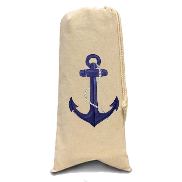 Blue Anchor Wine Bag