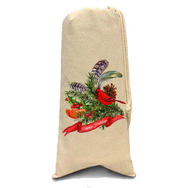 Cardinal Collage Red Banner Wine Bag