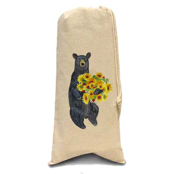 Black Bear Sunflower Wine Bag