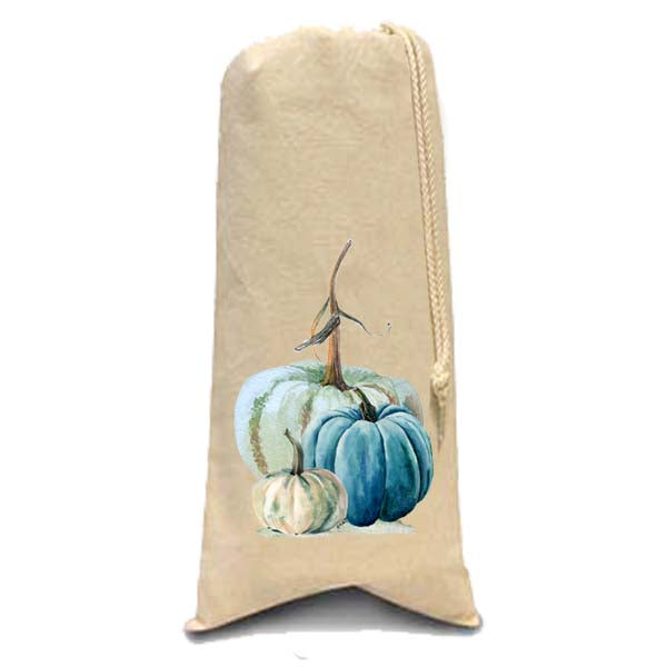 Blue-Green Pumpkin Wine Bag