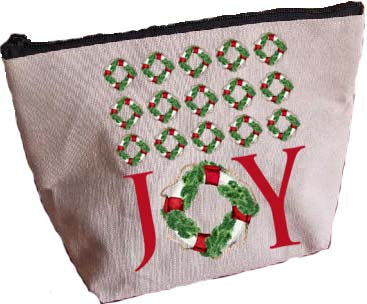 Joy Life Ring Repeat Large Zipper Pouch