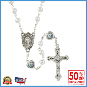 Blessed Mother Pearl and Heart Rosary
