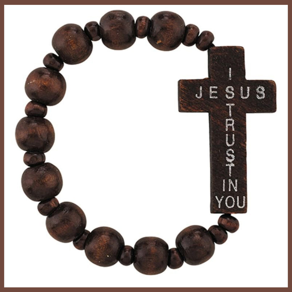 "FREE ""Jesus I Trust in You"" Stretch Rosary Bracelet"