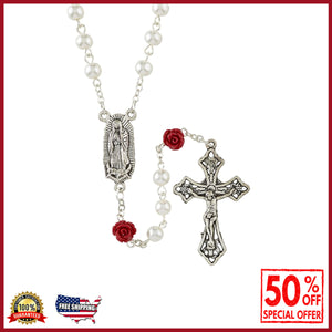 Our Lady of Guadalupe Pearl and Rose Rosary