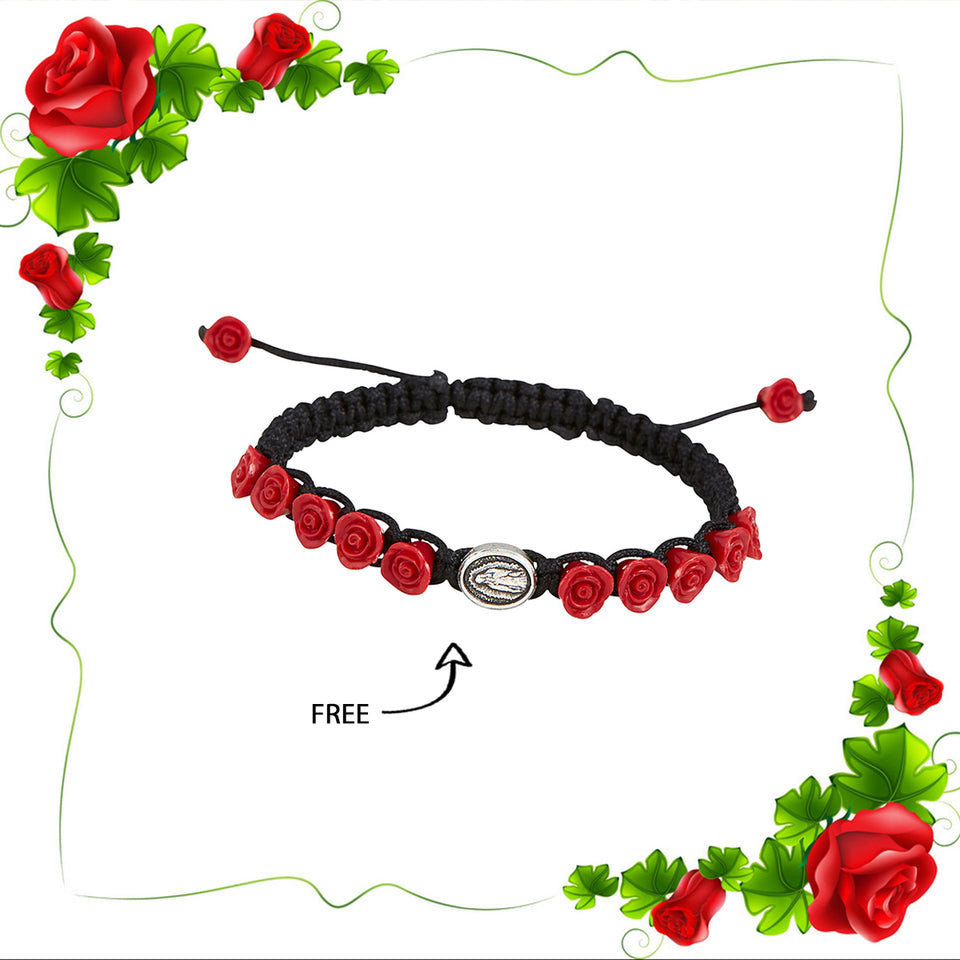 FREE Our Lady of Guadalupe with Roses Bracelet