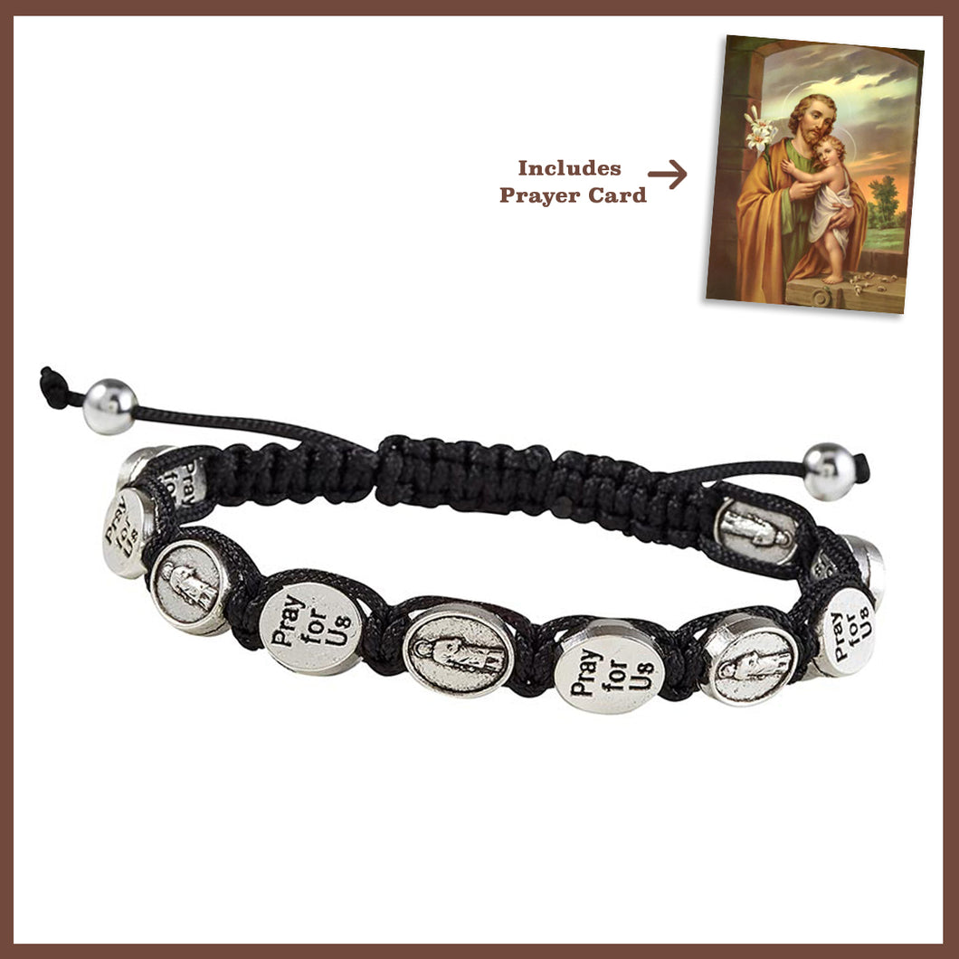 FREE St. Joseph the Worker Macrame Bracelet