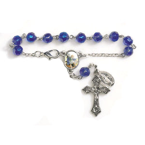 FREE St. Michael Glass Auto Rosary