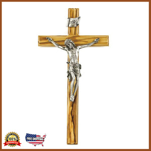 "10"" Olive Wood Crucifix (Free Shipping)"