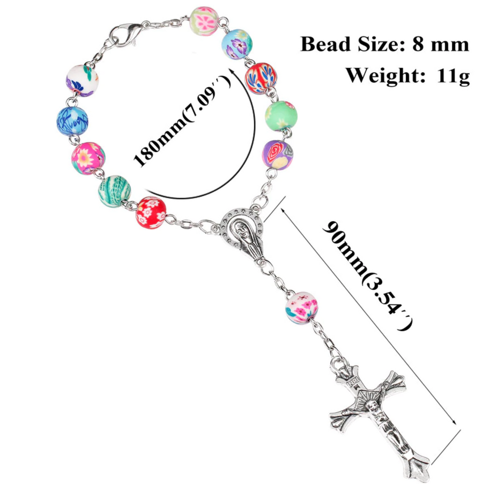 FREE Colorful Clay Auto Rosary