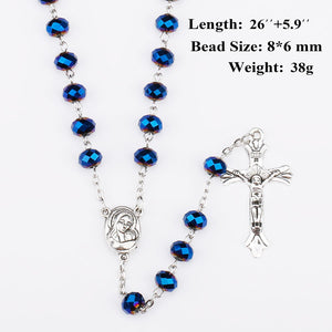 FREE Deep Blue Holy Soil Medal Rosary