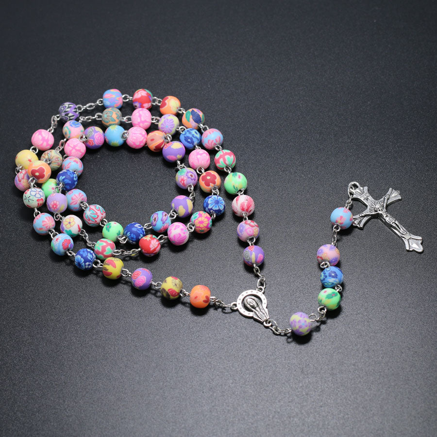 Unique Colorful Clay Rosary (75% OFF)