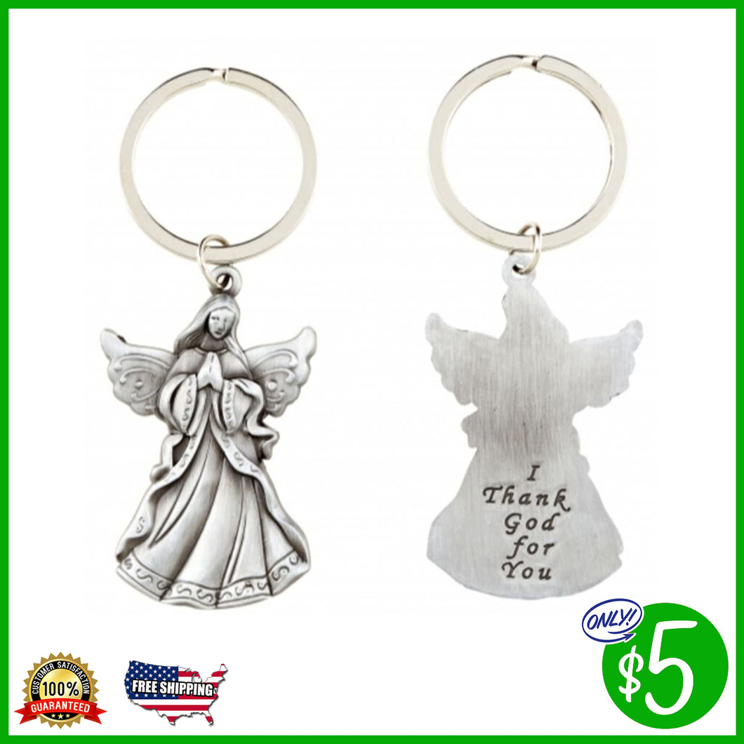 I Thank God for You Angel Key Chain
