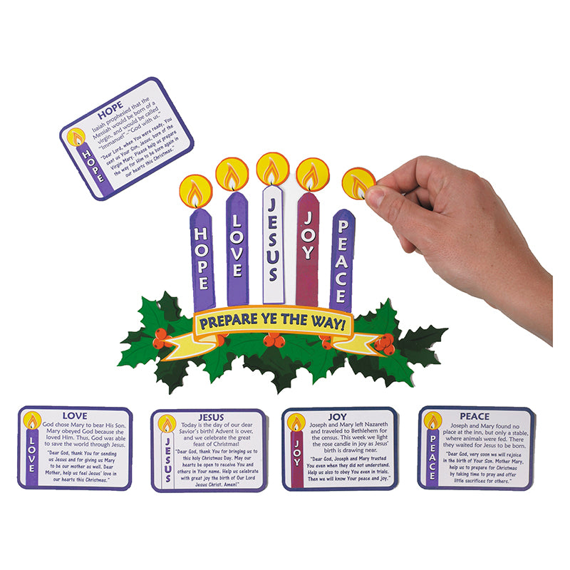 Magnetic Learning Advent Wreath Set