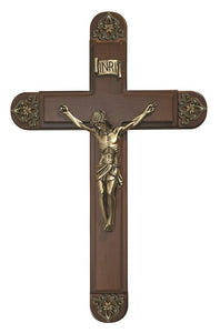 "Antique Bronze 15"" Sick Call Crucifix"
