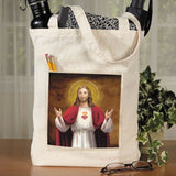 Sacred Heart Tote Bag with Pocket