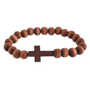 FREE Lenten Wood Cross Bracelet
