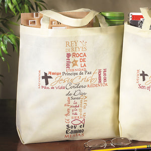 Names of Jesus Tote Bag (Spanish)