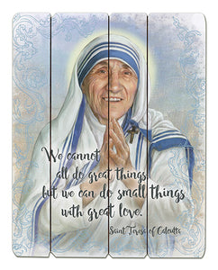 Saint Mother Teresa - Wood Pallet Sign