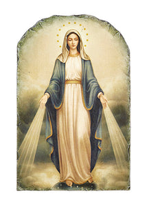 Marco Sevelli Arched Tile Plaque With Stand - Our Lady Of Grace