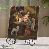 Marco Sevelli Tile Plaque - Away In A Manger