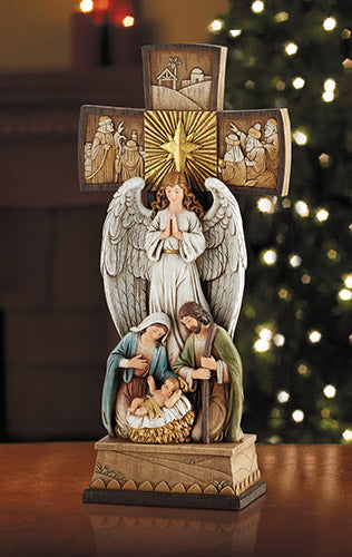"14"" Angel Cross Nativity"