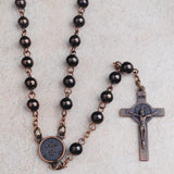 St. Benedict Copper Bead Rosary (50% OFF)